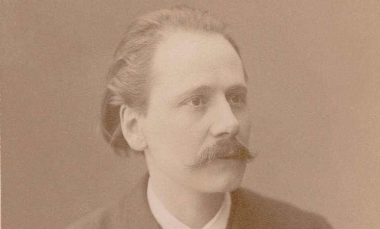 A sepia photograph of Jules Massenet