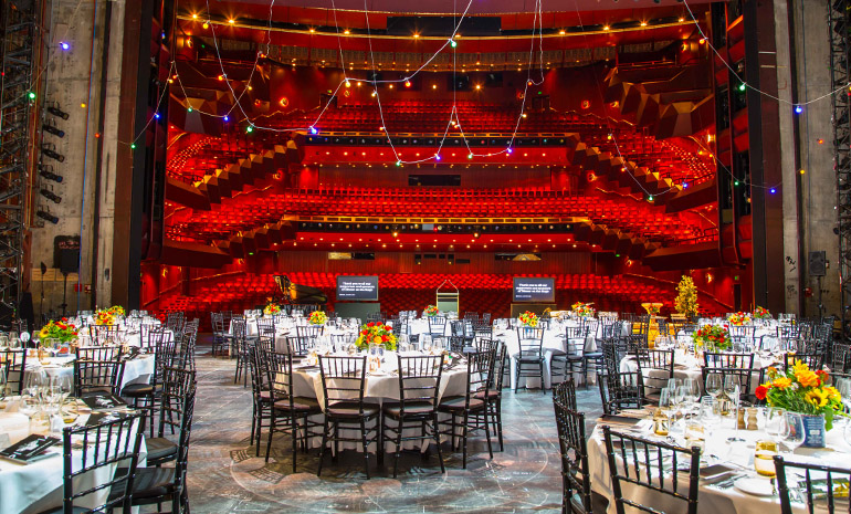 Dinner on the stage of the State Theatre at Arts Centre          Melbourne
