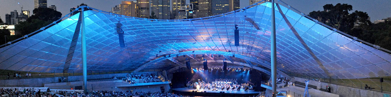 Mazda Opera in the Bowl: an open-air stage against a backdrop of the Melbourne skyline