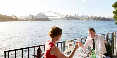 The Platinum Club overlooks Sydney Harbour