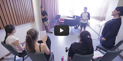 The recipients of the 2015 Regional Student Scholarship spend a week in Sydney with Opera Australia