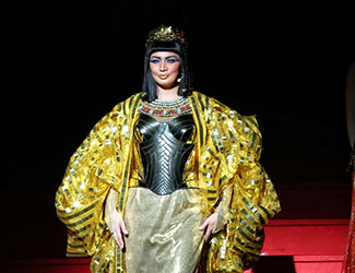 Milijana Nikolic as Amneris in Handa Opera on Sydney Harbour - Aida. Photo credit: Hamilton Lund