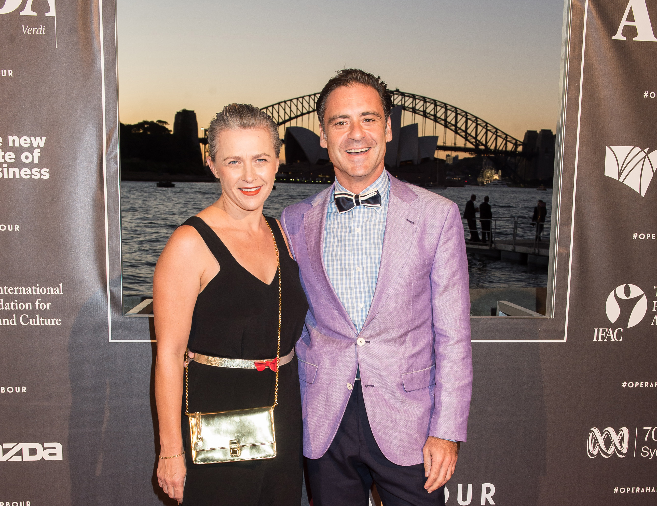 Andrew O'Keefe and his wife Eleanor