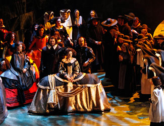Production image from Opera Australia's Don Carlos