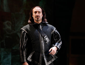 José Carbó performs the role of Rodrigo, Count of Posa in Opera Australia's Don Carlos.