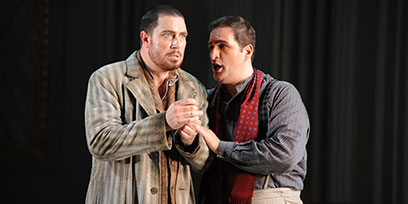 David Parkin as Angelotti and Riccardo Massi as Cavaradossi.