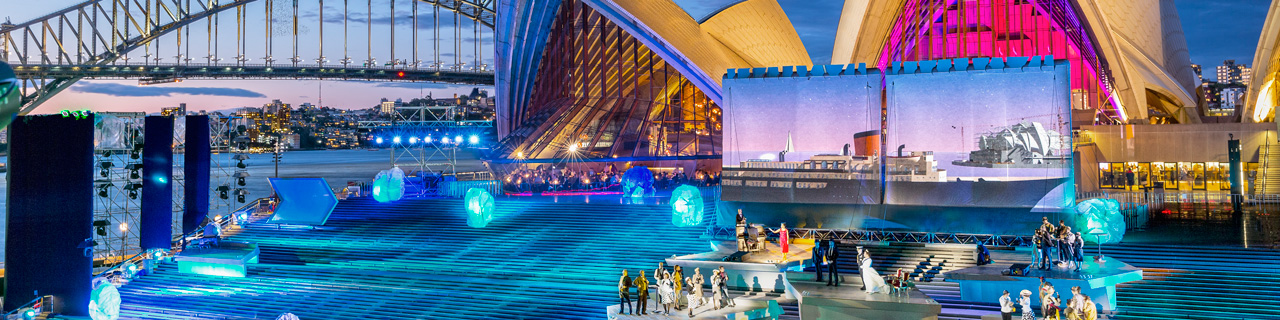 The 100-metre wide steps of Sydney Opera House will transform into an opera stage for the first ever