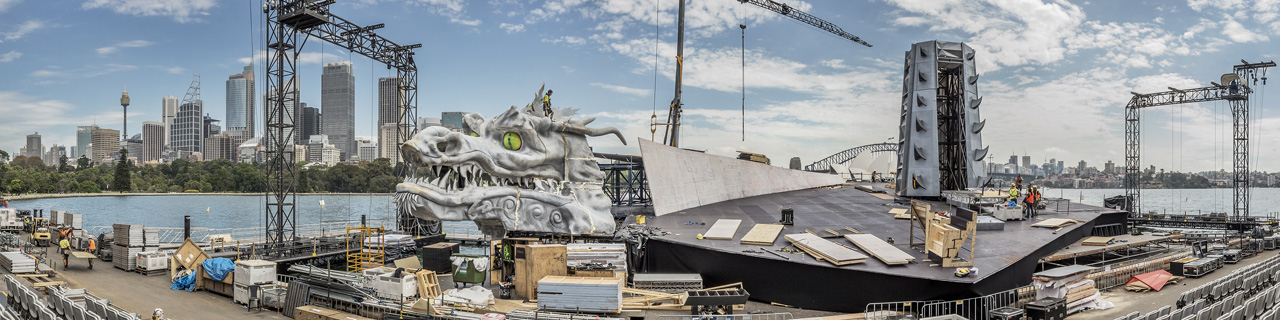 The centrepiece of Turandot on Sydney Harbour is a giant dragon.