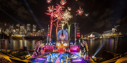 Fireworks at Handa Opera on Sydney Harbour