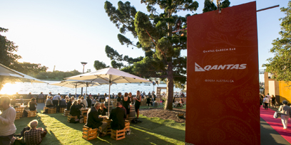 The Qantas Garden Bar at Handa Opera on Sydney Harbour