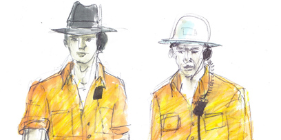 Dan Potra's costume designs for The Eighth Wonder