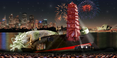 Dan Potra reveals his set design for Turandot on Sydney Harbour