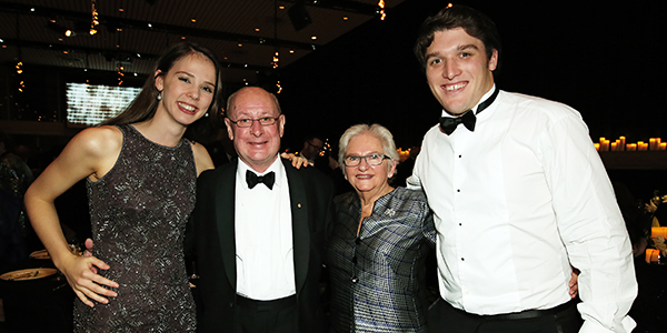 Anna Dowsley, Susie and Martin Dickson and Jonathan Abernethy at Opera Australia's 60 anniversary oarty