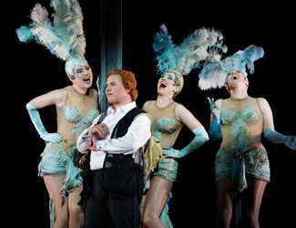 Stefan Vinke as Siegfried and The Rhinemaidens in Opera Australia's The Melbourne Ring 2013 photo Jeff Busby