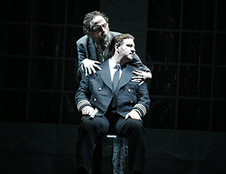 Warwick Fyfe as Alberich Daniel Sumegi as Hagen in Opera Australia's production of Götterdämmerung. Photo by Jeff Busby.