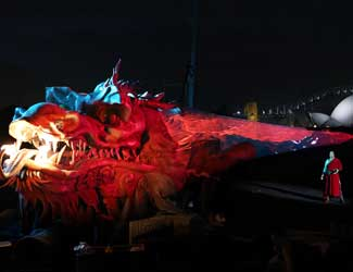 Dragon reveal for Handa Opera on Sydney Harbour Turandot