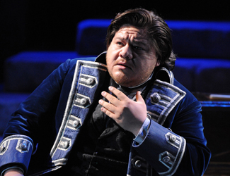 Diego Torre as Gabriele Adorno in Opera Australia's production of Simon Boccanegra as Sydney Opera House.