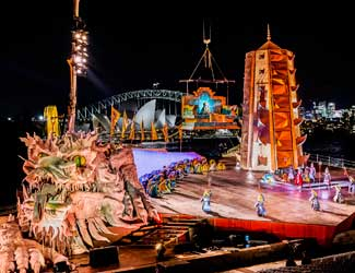 The stage of Turandot on Sydney Harbour