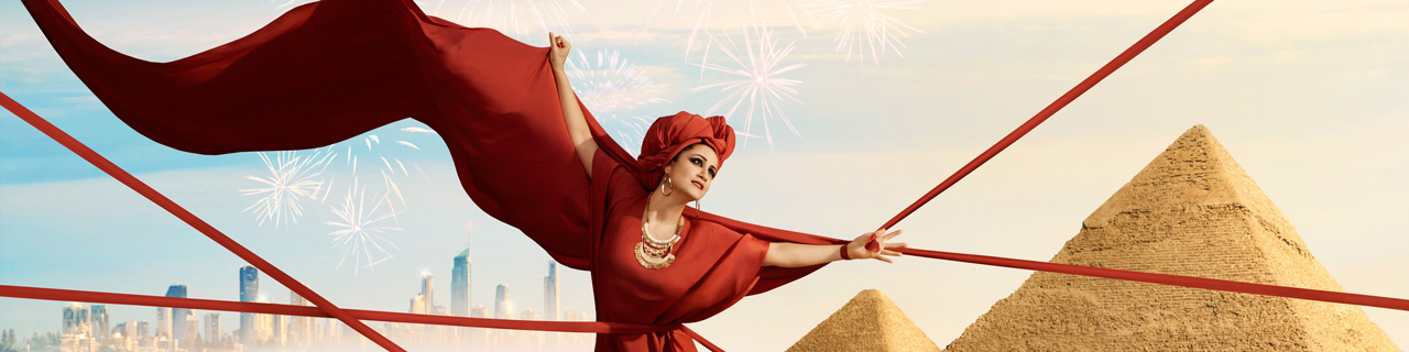 Natalie Aroyan stars as Aida at Griffith Opera on the Beach