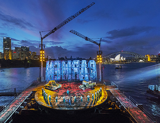 The cast of Handa Opera on Sydney Harbour - Carmen 2017