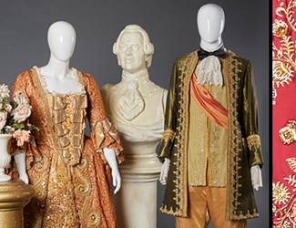 Yvonne Kenny's costume from Rinaldo, 1999, and David Hobson's costume from The Gondoliers, 1989