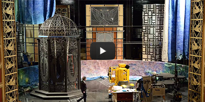 Watch The Merry Widow set being bumped in
