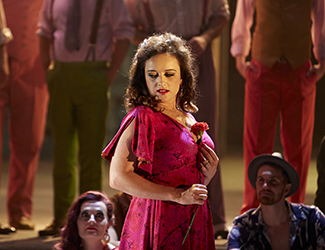 Clémentine Margaine performs the title role in Opera Australia's new production of Carmen.