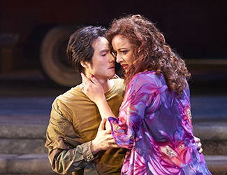 Yonghoon Lee (Don José) and Clémentine Margaine (Carmen) in Opera Australia's production of Carmen.
