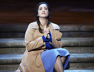 Natalie Aroyan performs the role of Micaëla in Opera Australia's production of Carmen.