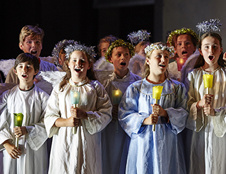 The Opera Australia Children's Chorus in Cavalleria Rusticana. Photo by Keith Saunders.