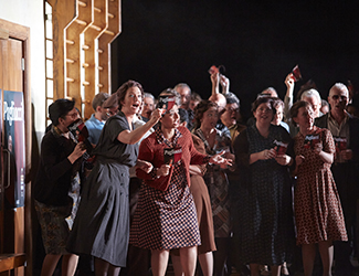 The Opera Australia Chorus in Pagliacci. Photo by Keith Saunders.