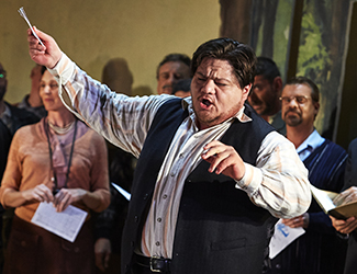 Diego Torre as Canio in Pagliacci.  Photo by Keith Saunders