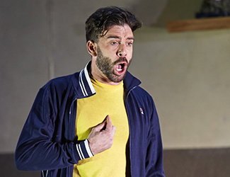 Samuel Dundas as Silvio in Pagliacci. Photo by Keith Saunders