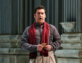 Teodor Ilincăi as Cavaradossi in Opera Australia's production of Tosca. Photo by Prudence Upton