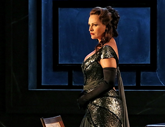 Ainhoa Arteta as Tosca in Opera Australia's production of Tosca. Photo by Prudence Upton