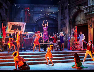 Colourful production image of Carmen