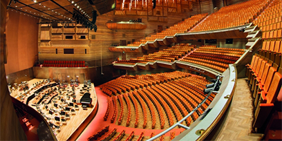 Inside the Hamer Hall at Arts Centre Melboune