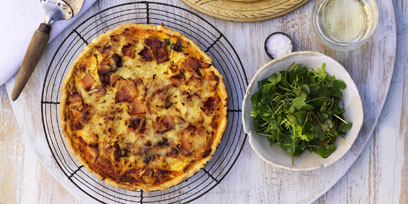 Quiche Lorraine with smoked local bacon & French leek