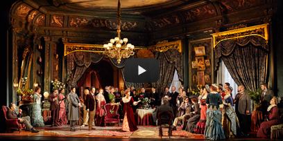 The cast of La Traviata on stage in Sydney