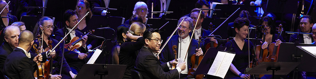 The Opera Australia Orchestra during a performance of Andrea Chenier at the Sydney Opera House