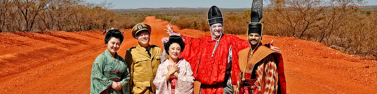 The cast of Madama Butterfly in Tennant Creek