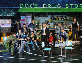 LT. Schrank and Jet boys in front of Doc's drug store