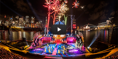 Trailer for Handa Opera on Sydney Harbour with Youtube play button