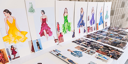 See the costume sketches for West Side Story on Sydney Harbour
