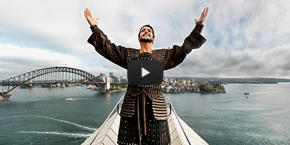Andeka Gorrotxategi sings Nessun Dorma on top of the Sydney Opera House