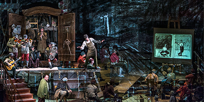 entridge's haunting illustrations offer a window into the carnage of Wozzeck's world.