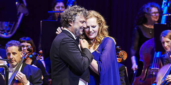 Jonas Kaufman and Eva-Maria Westbroek after a performance of Andrea Chenier