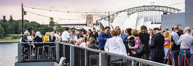 The Northern Terrace: a casual dining area at the custom-built Opera on Sydney Harbour site
