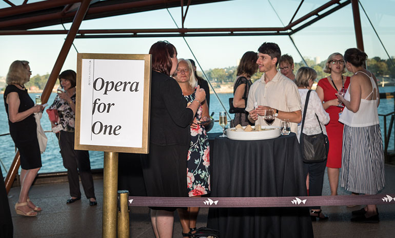 Opera for One event at Sydney Opera House
