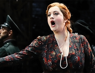 Singer Natalie Aroyan as Odabella in the opera Attila